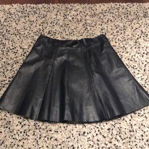 Leather high waist skirt